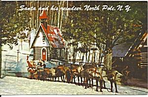 Santa and Reindeer North Pole NY p35066 (Image1)
