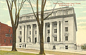 Schenectady County Court House Nypostcard P35131
