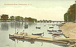 Mohawk River Schenectady  NY Postcard p35132 (Image1)