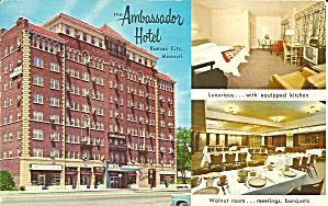Kansas City MO Ambassador Hotel postcard p35147 (Image1)