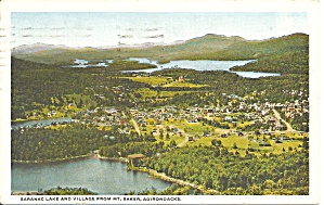 Saranac Lake Adirondacks NY 1922 postcard p35152 (Image1)