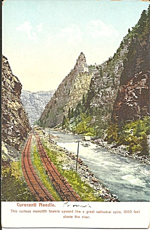 Curecanti Needle Black Canyon CO postcard p35157 (Image1)