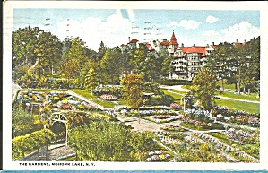 Mohonk Lake NY The Gardens 1921  postcard p35169 (Image1)
