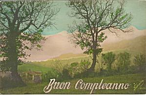 Buon Conyleanno Italian Postcard p35173 (Image1)