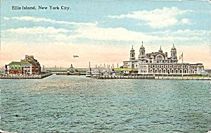 Ellis Island New York City 1922 postcard p35179 (Image1)