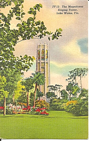 Lake Wales Fl The Singing Tower 1939 Postcard P35181