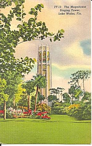 Lake Wales FL The Singing Tower 1939 postcard p35181 (Image1)