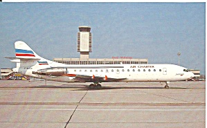 Aerospataile Caravelle 108-3 Of Air Charter F-bjen Postcard P35185
