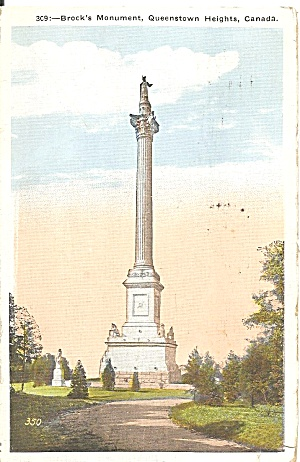 Queenstown Ontario Brock S Monument Postcard P35198