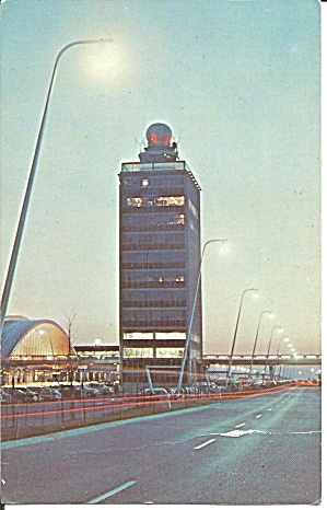 Jfk International Arrival Building Postcard P35199