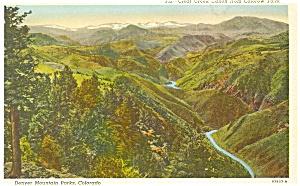 Denver Mountain Peaks Colorado Postcard p3523 (Image1)