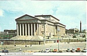 Liverpool Uk St George S Hall Lime St Postcard P35247