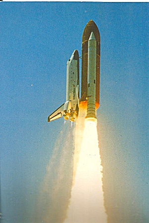 Shuttle Challenger First Flight Liftoff Postcard P35259