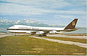 United Parcel Service 747-123F/SCD postcard p35263 (Image1)