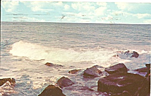 South Lyme Ct Point O Woods Beach Postcard P35264