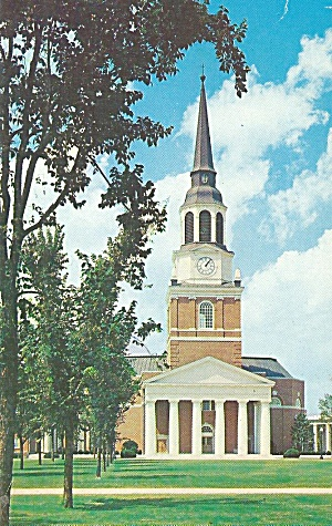 NC Wake Forest College Wait Chapel postcard p35273 (Image1)