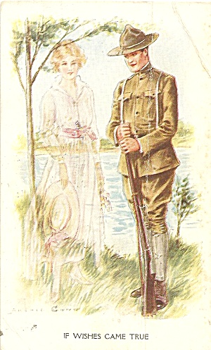 WWI Doughboy and Lady If Wishes Came True 1918 p35292 (Image1)