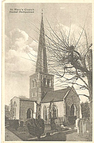 Hemel Hempstead UK St Mary s Church 1945 p35299 (Image1)