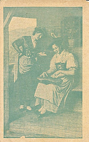 Women with Musical Instrument postcard p35310 (Image1)