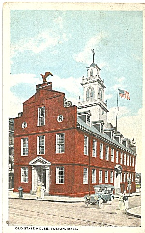 Boston MA  Old State House postcard p35330 (Image1)