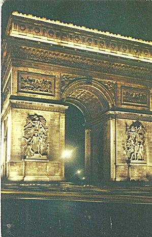 Paris France Arc De Triomphe Postcard P35338