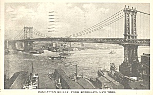 New York City Manhattan Bridge 1923 P35354