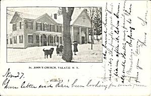 Valatie NY St John s Church 1907 postcard p35400 (Image1)