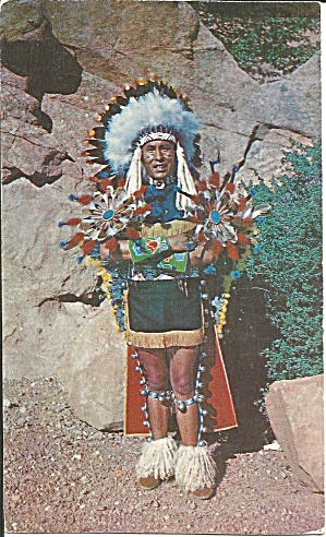 North American Indian Chief Full Dress Costume P35411
