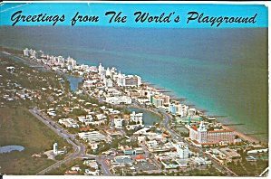 Aerial View Of Miami Beach Florida Postcard P35508 1970