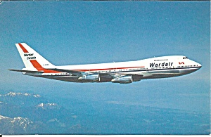 Wardair Canada 747 postcard p35509 (Image1)