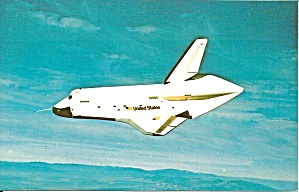 Space Shuttle Enterprise In Flight Postcard P35512