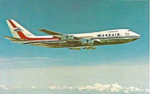Wardair 747 Cf-djc Postcard P35530