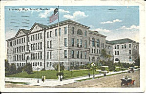 Seattle WA Broadway High Scool postcard p35538 (Image1)