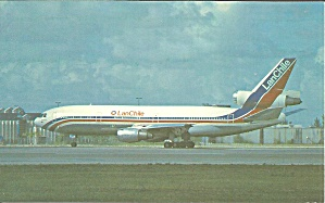 LanChille DC-10-30 CC-CJT postcard p35539 (Image1)
