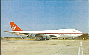 Virgin Atlantic Airways 747-287b G-virg Postcard P35543