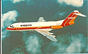 Empire Airlines Fokker F-28-4000 Postcard P35544