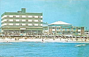 Ocean City Md Beach Plaza Hotel Postcard P35549