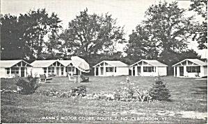 Clarendon VT Man s Motor Court Motel postcard p35559 (Image1)