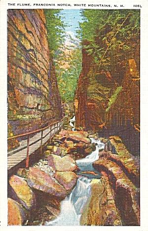 Franconia Notch NH The Flume postcard p35565 (Image1)