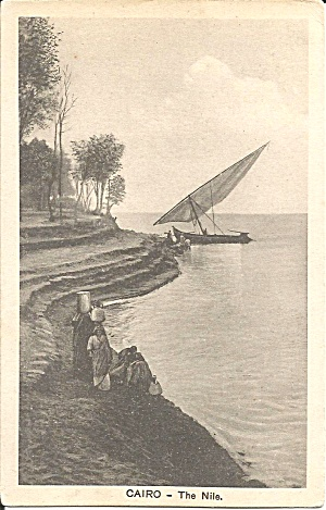 Cario Egypt The Nile River postcard p35574 (Image1)