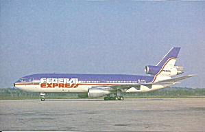 Federal Express Dc-10-30 N305fe Postcard P35576