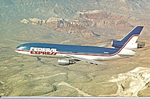 Federal Express Dc-10-10cf N68055 Postcard P35578