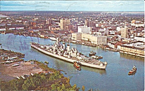 Uss North Carolina At Wilmington Nc Postcard P35599