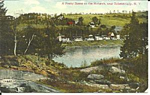 Schenectady NY Scene on the Mohawk 1909 postcard p35604 (Image1)