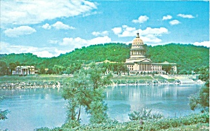 Charleston West Virginia State Capitol postcard p35618 (Image1)