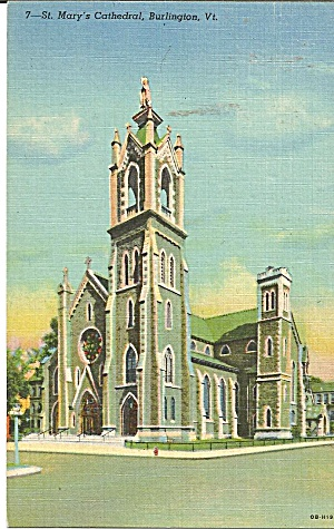 Burlington Vt St Mary S Cathedral Postcard P35630