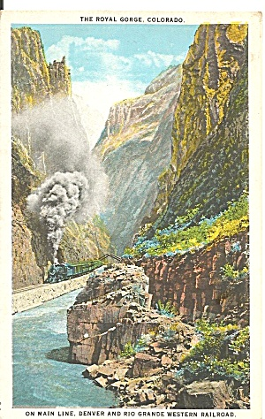 Royal Gorge CO Denver Rio Grande RR Postcard  p35633 (Image1)