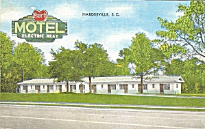 Hardeevile SC Hart Motel postcard p35640 (Image1)