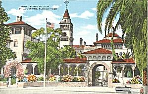 St Augustine FL Hotel Ponce De Leon postcard p35643 (Image1)
