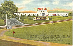 Bedford County Va Sunset Hill Tourist Court Motel P35647